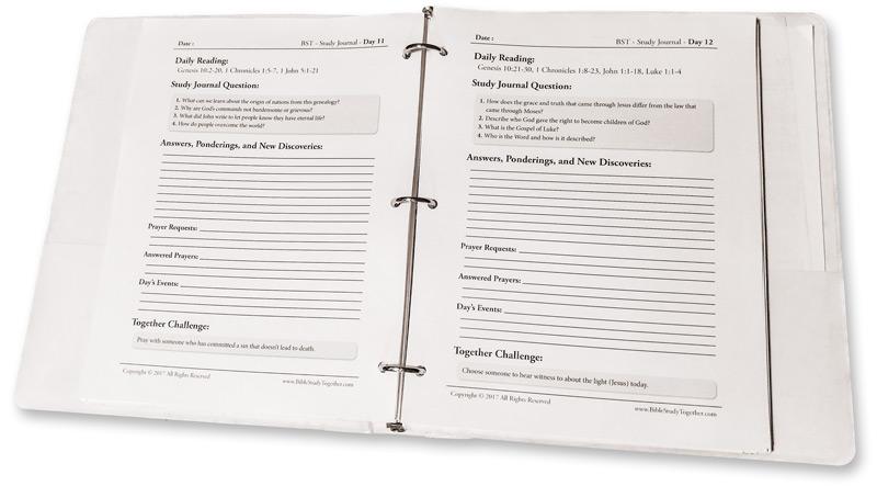 Printable Study Journal Bible Study Together
